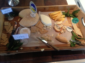 The first of our daily cheese boards