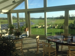 Sunshine! Looking through the dining room to the garden outside