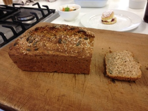 Brown Irish soda bread which is made daily at Ballymaloe. Made with delicious buttermilk.