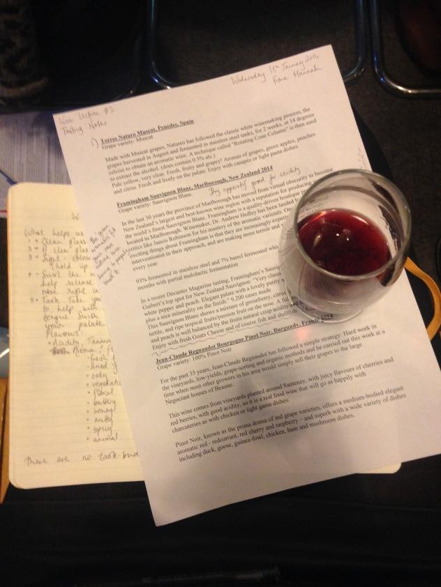 Pinot tasting notes
