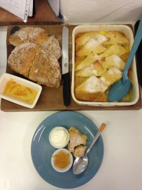 The finished product served with my Friday's soda bread and my marmalade bread and butter pudding