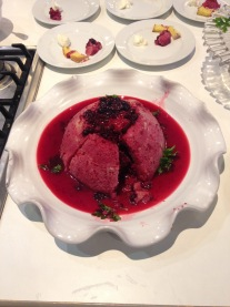Summer pudding (eaten, not made by me)