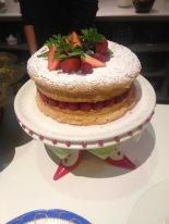 An amazingly light sponge cake