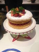 An amazingly light sponge cake