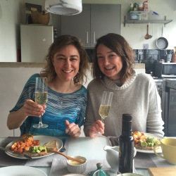 The lovely Kate (housemate) and I enjoying bubbles and brunch